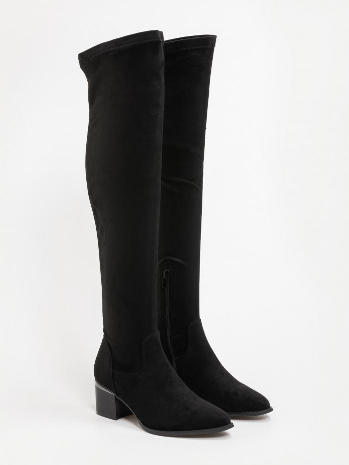 Suede over the knee μπότες