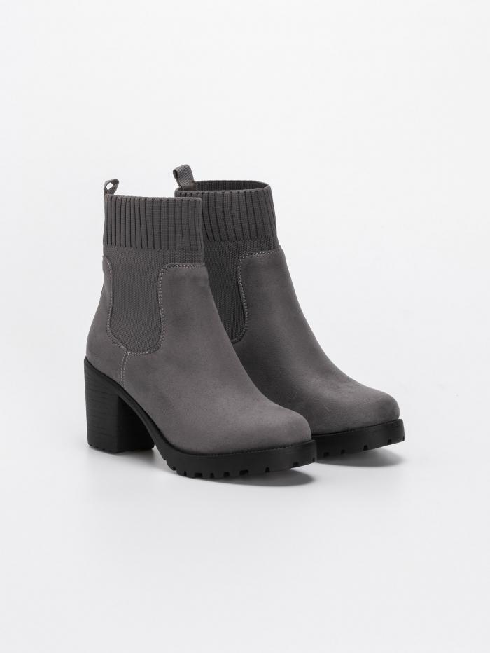 Suede sock fit μποτάκια