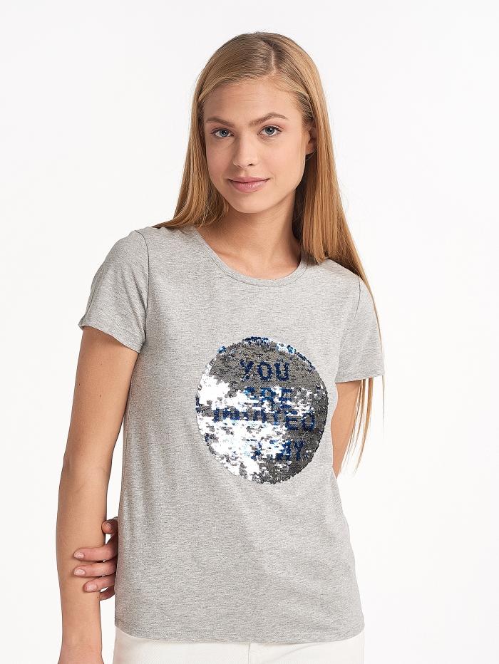T-shirt με πούλιες διπλής όψης