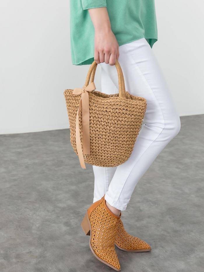 Τσάντα καλάθι από ψάθα
