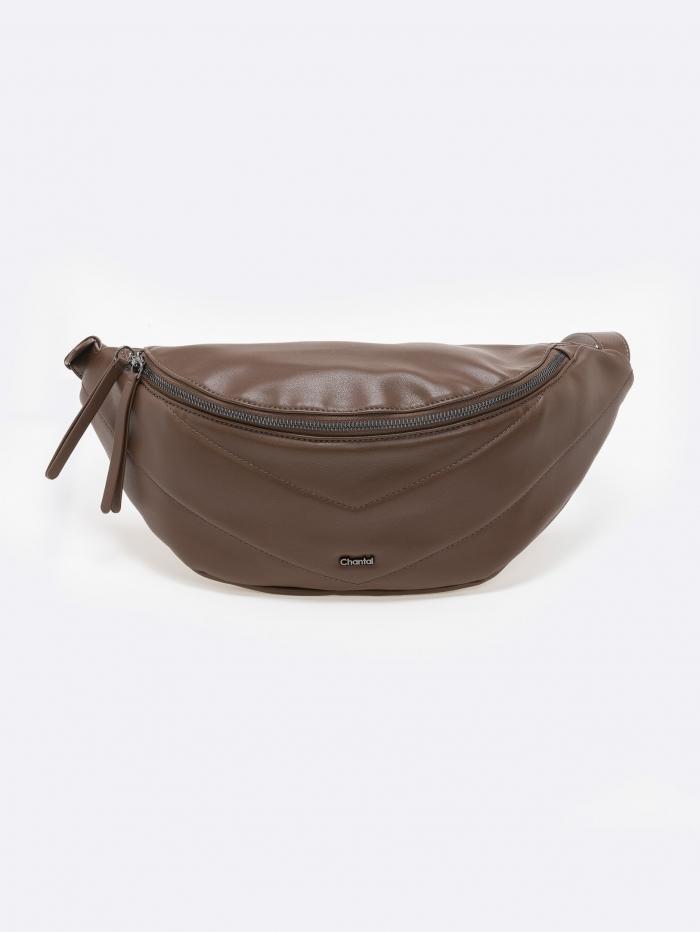 Τσάντα μέσης soft δερματίνη με εξώραφα