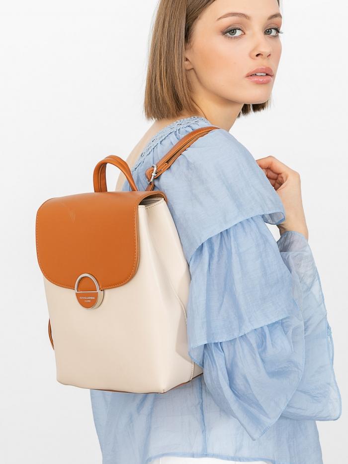 Τσάντα πλάτης με διχρωμία