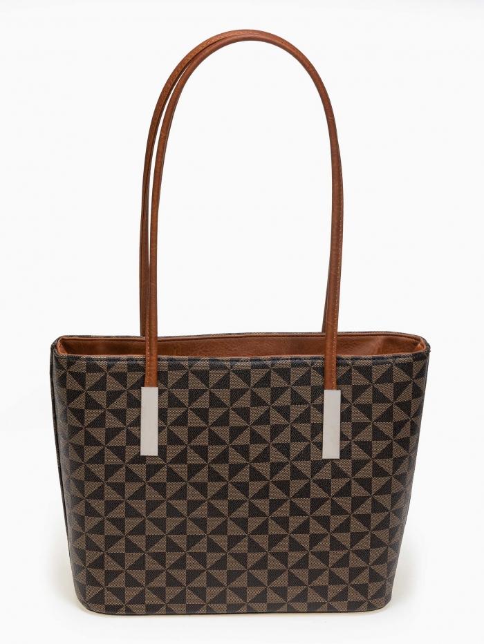 Τσάντα ώμου δύο θέσεων με pattern