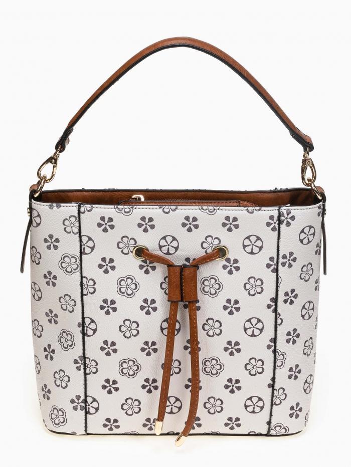 Τσάντα ώμου - χειρός με pattern