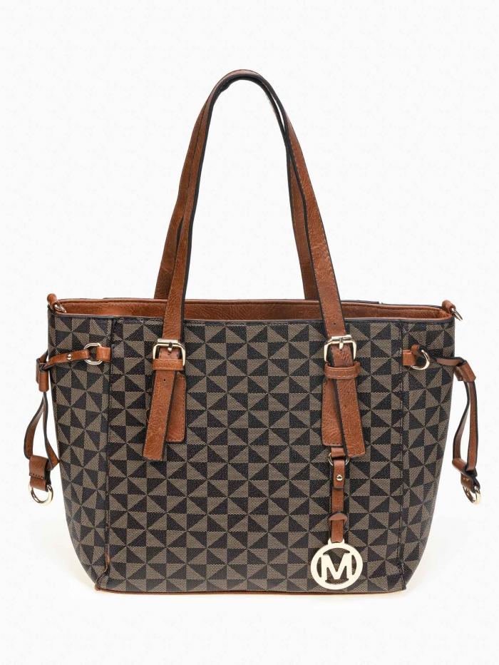 Τσάντα shopper με pattern