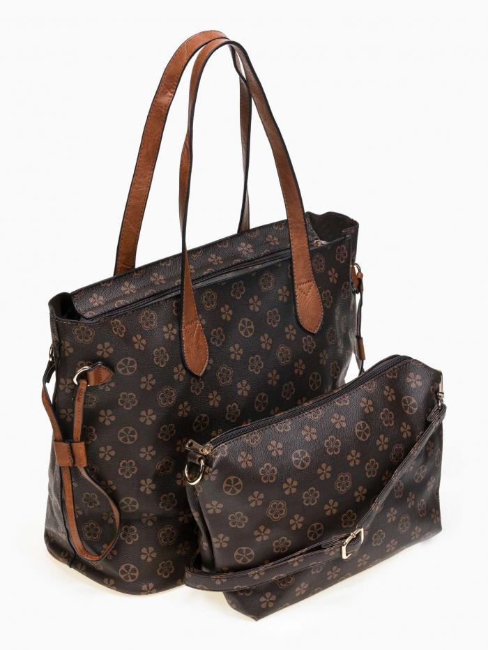 Shopper τσάντα ώμου με pattern