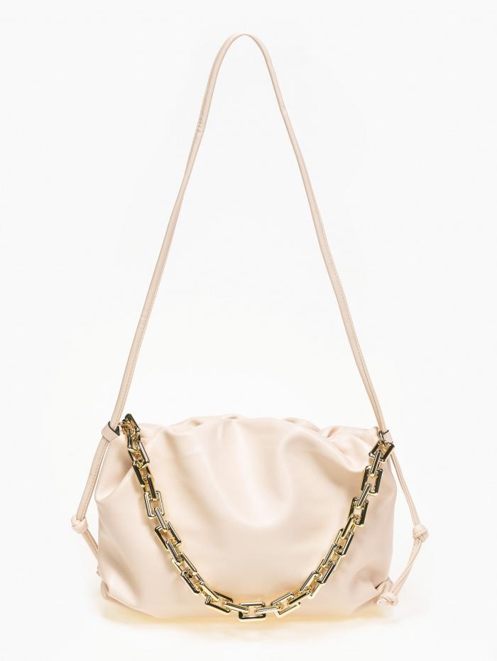 Τσάντα ώμου soft με αλυσίδα