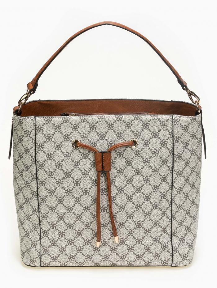 Maxi τσάντα χειρός-ώμου με pattern