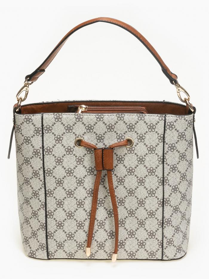 Midi τσάντα χειρός-ώμου με pattern