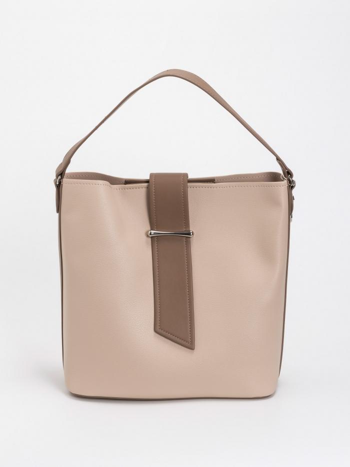 Τσάντα χειρός - ώμου με διχρωμία