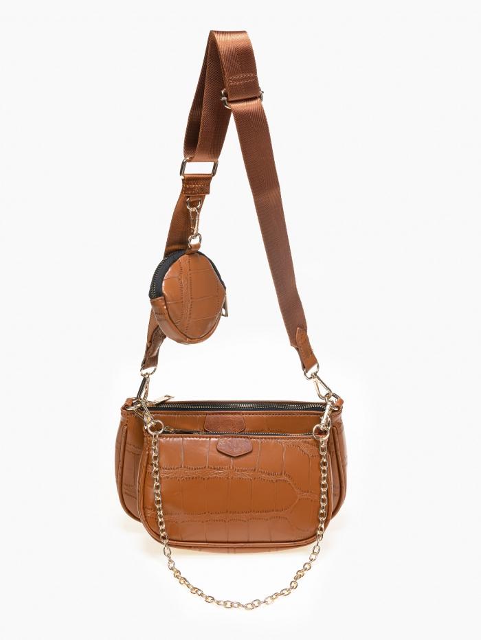 Τσάντα ώμου σετ με πορτοφολάκι