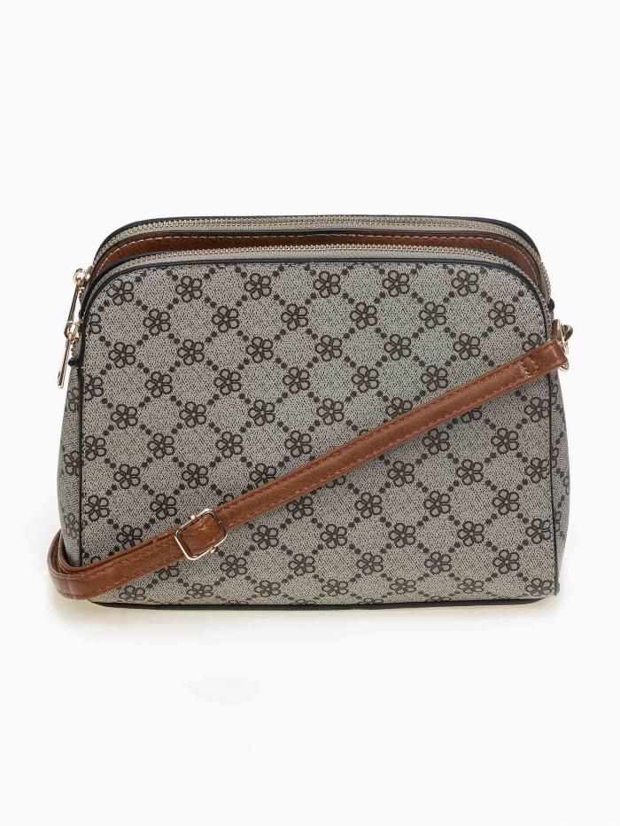 Τσάντα ώμου - χιαστί με pattern