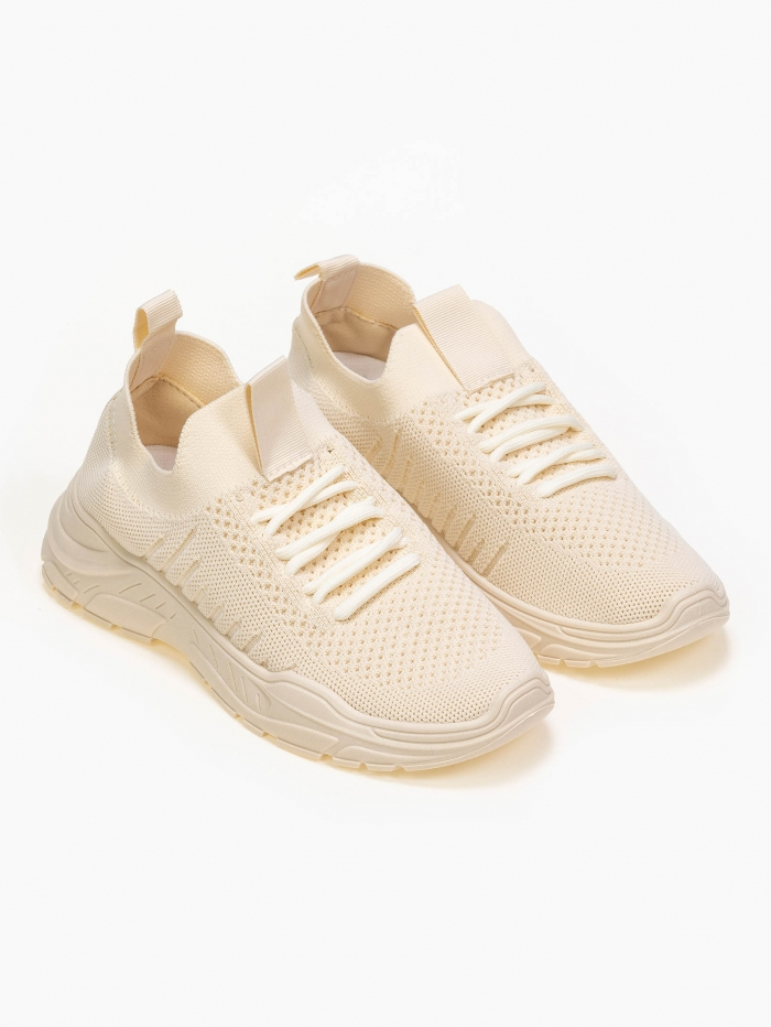 Sneakers κάλτσα με πλεκτό σχέδιο