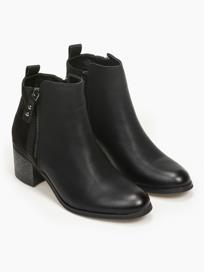Ankle boots σε συνδυασμό με suede