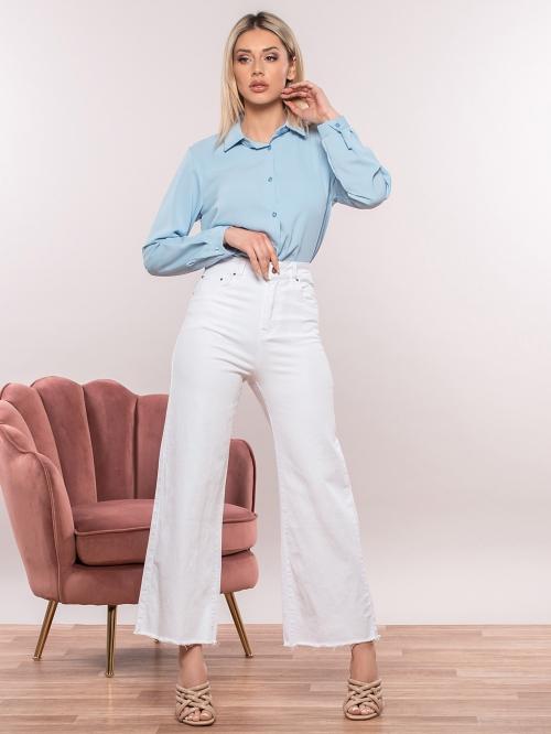 Ψηλόμεσο cropped τζιν παντελόνι