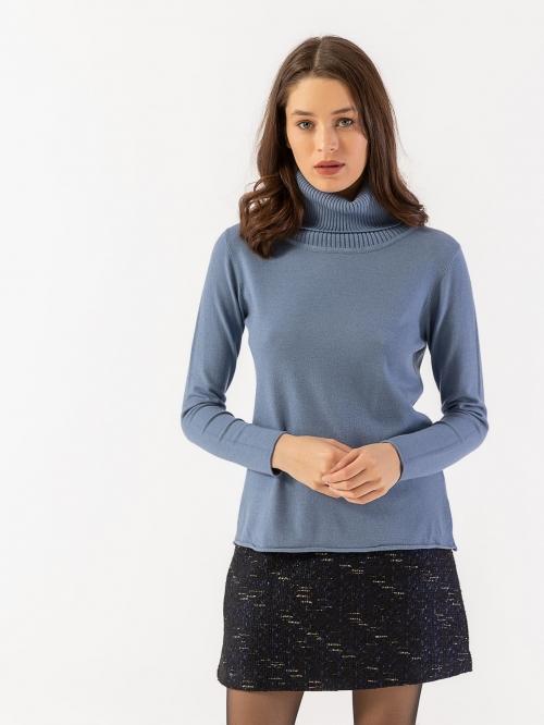 Πλεκτό μπλουζάκι με ζιβάγκο και απαλή υφή
