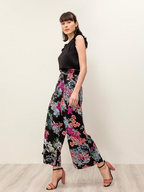 Ψηλόμεση φλοράλ παντελόνα