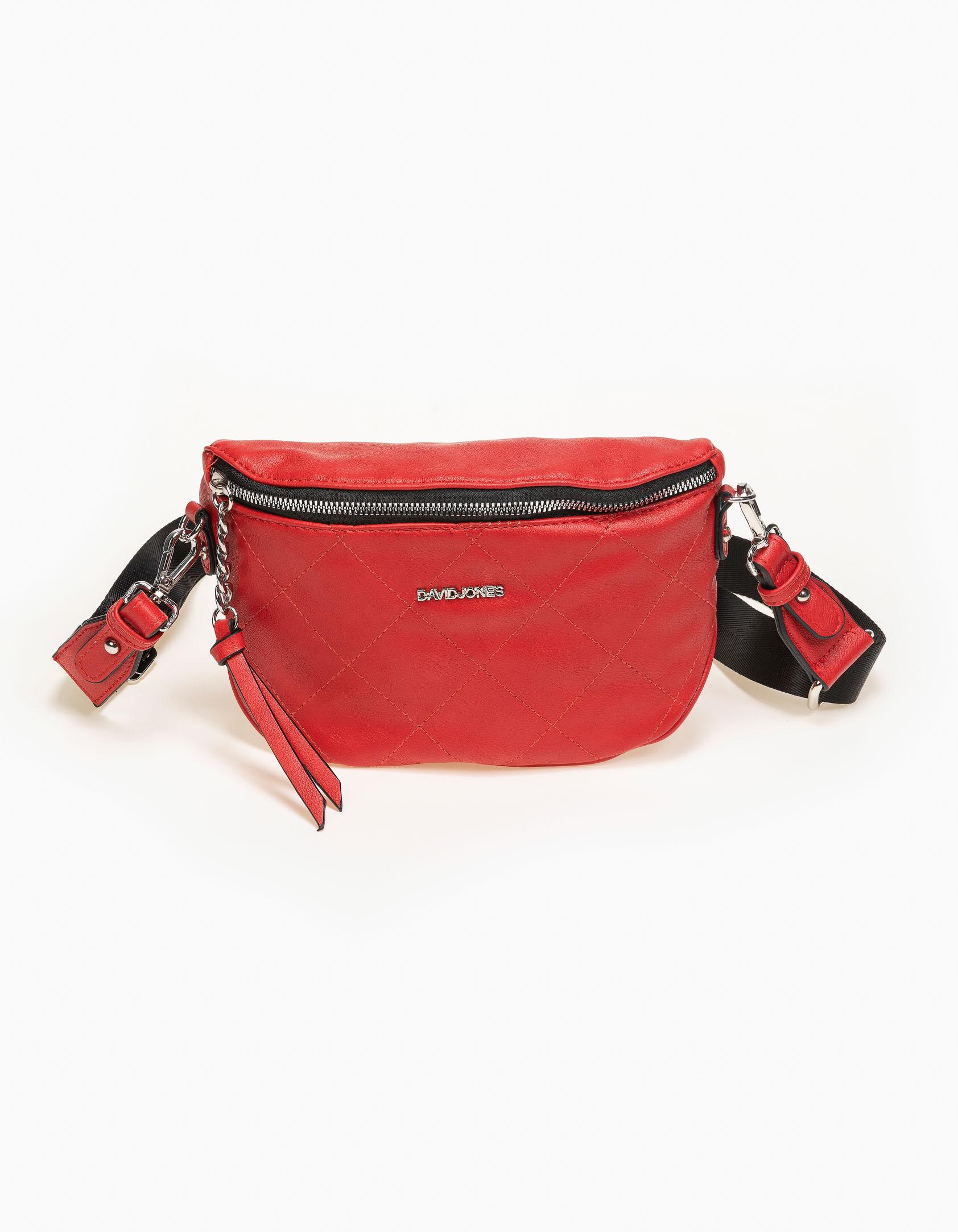 Τσάντα μέσης δερματίνη καπιτονέ - Κόκκινο